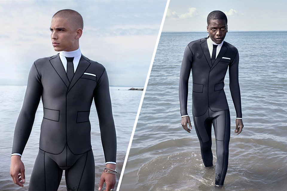 Trompe L'Oeil Technical Wetsuit by Thom Browne