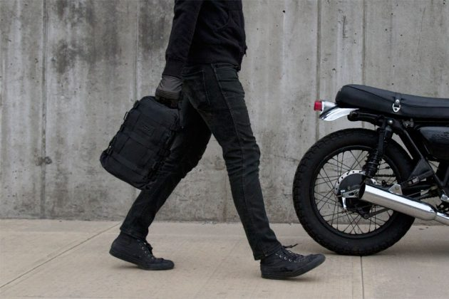 12L Motorcycle Cargo Tail Bag by ALMS NYC