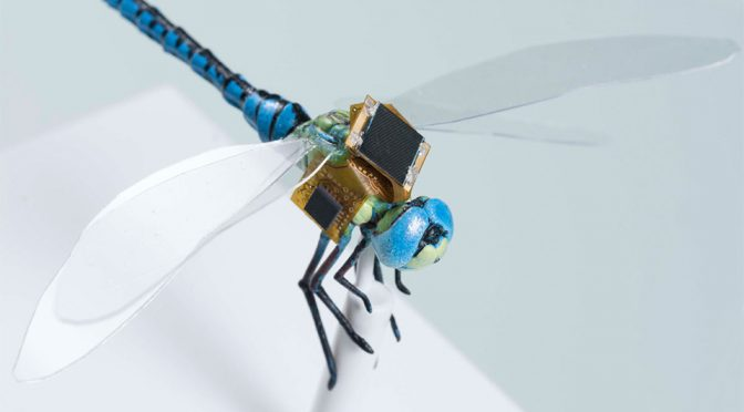 This Cyborg Dragonfly Is The Microbot From <em>Deception Point</em> In Real Life