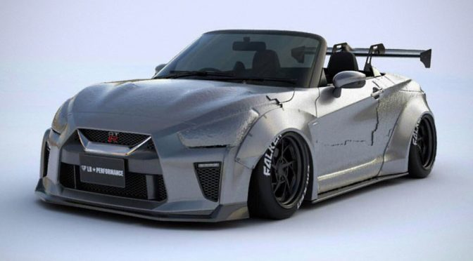 daihatsu copen turned mini gt r blasphemy or awesomeness mikeshouts. Black Bedroom Furniture Sets. Home Design Ideas