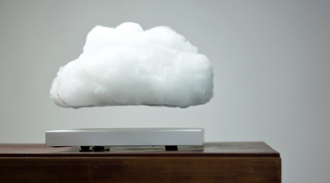 Floating Cloud Lamp Silently Kicks Up A Storm On Your Desk With Lights