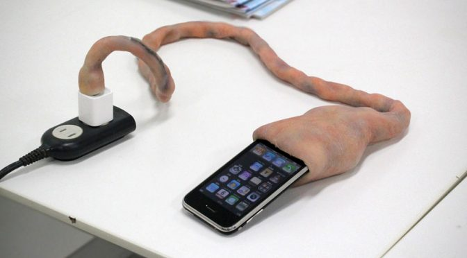 Umbilical Cord iPhone Charging Cable Makes Charging iPhone Nightmarish