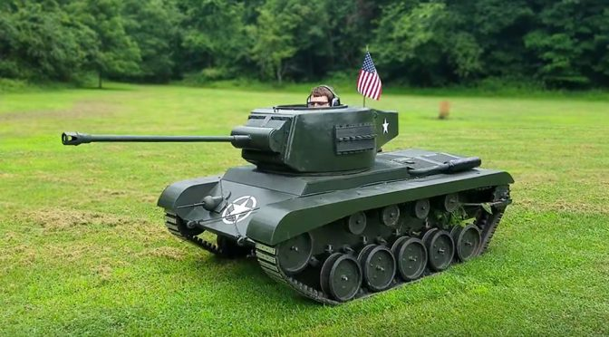 High Schooler Built A Drivable Scale WWII Tank That Actually Shoots