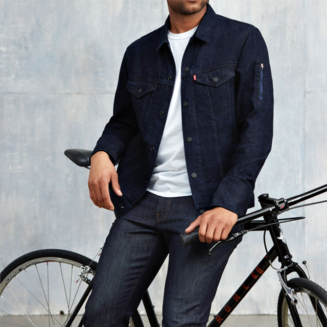 Levi's Commuter Trucker Jacket with Jacquard by Google