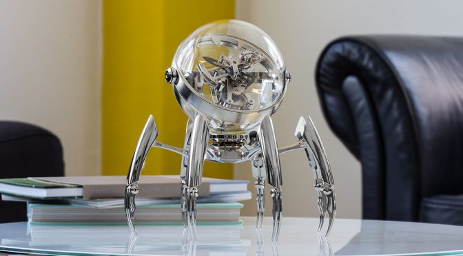 MB&F's Octopus-inspired Table Clock Is Really More Akin To A Robotic Spider
