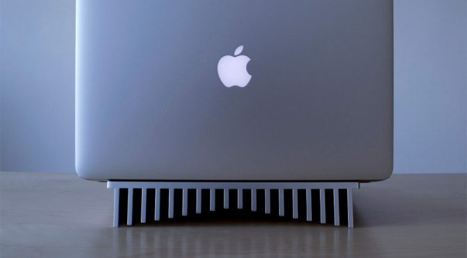 One-piece Aluminum Heatsink Laptop Stand by Bryan Wong