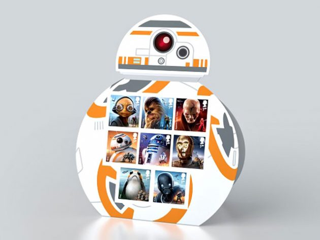 Royal Mail Star Wars Stamp Collection BB-8 Display Set