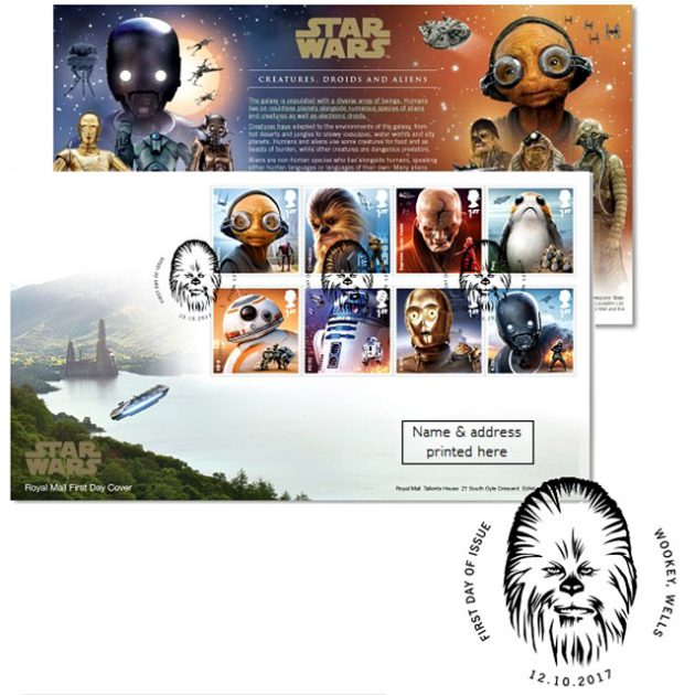Royal Mail Star Wars Stamp Collection First Day Cover