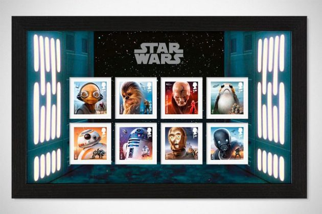 Royal Mail Star Wars Stamp Collection Framed Stamps