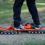 Meet Ungoverned Drifter, An Electric Skateboard That's 30-Wheel Drive!