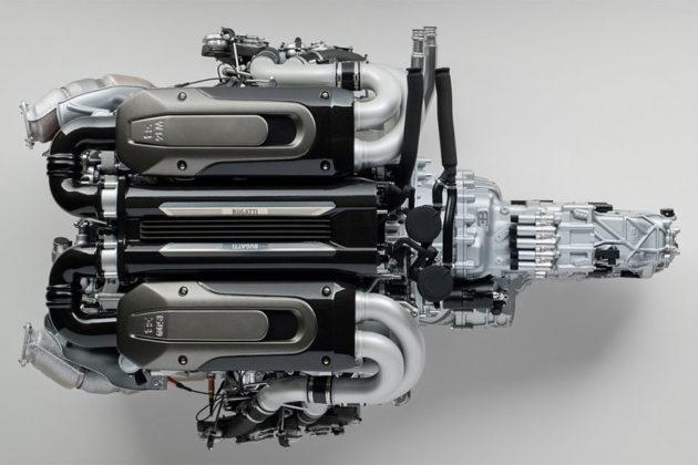 1/4 Scale Bugatti Chiron Engine and Gearbox by Amalgam