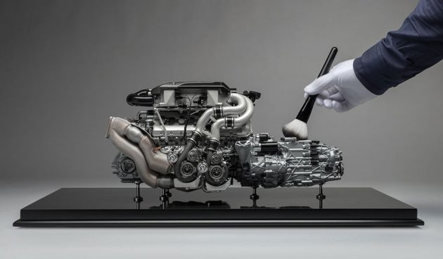 1/4 Scale Bugatti Chiron Engine and Gearbox by Amalgam