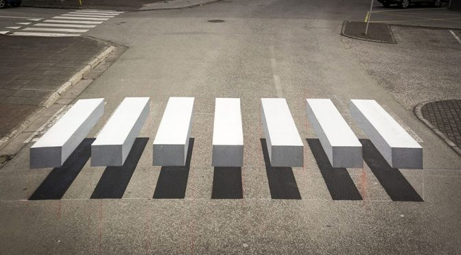 "This ""Floating"" 3D Zebra Crossing Is Sure To Get Motorists' Attention"