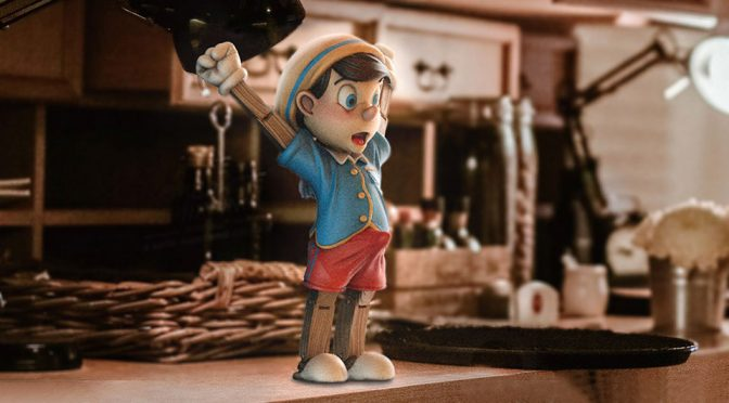 Oh, Look. Grown-up Version Of Pinocchio Has A Morning Wood!