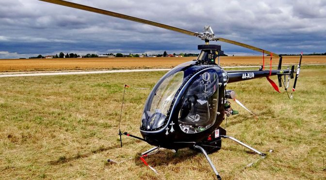 Who Needs A Drone When You Can Fly A Mosquito Helicopter To Work?