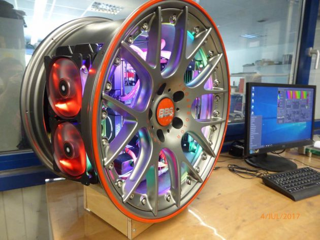 Custom BBS Alloy Wheel Computer Case