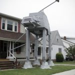 Ohio Man Built A 19-Foot AT-AT Replica On His Front Lawn For Halloween