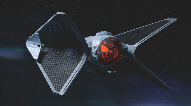 Concept TIE-X Fighter Makes TIE Fighter Looks Truly Very Alien-<em>ish</em>
