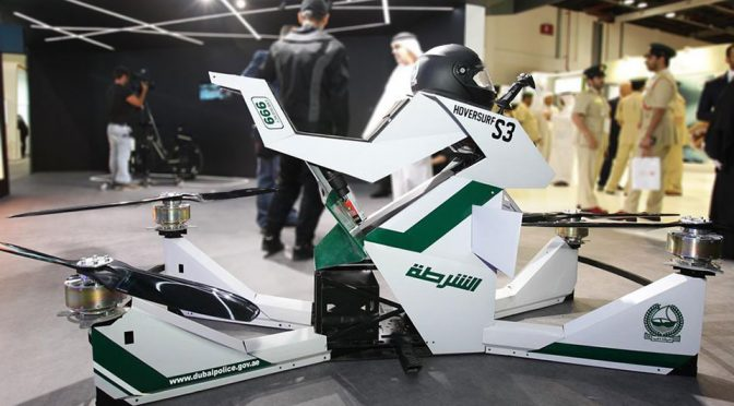 Hoversurf's Hoverbike Gets Inducted Into Dubai Police Department