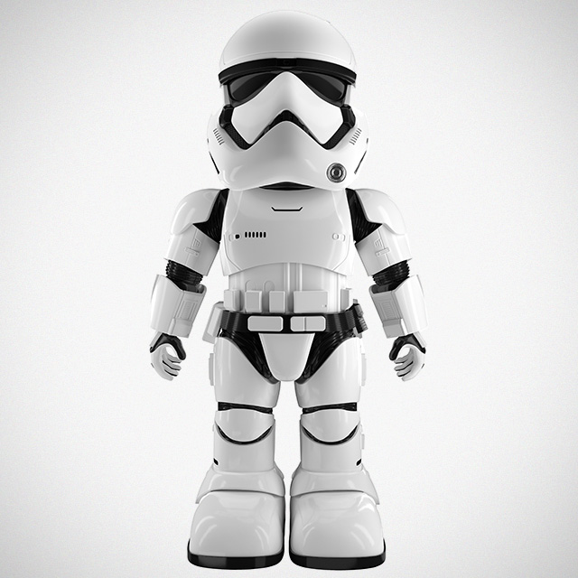 Ubtech stormtrooper robot is your baby step to galaxy domination mikeshouts - Robot blanc star wars ...