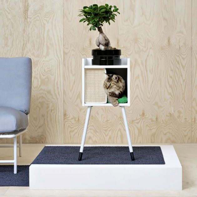Ikea LURVIG Cat House with Leg