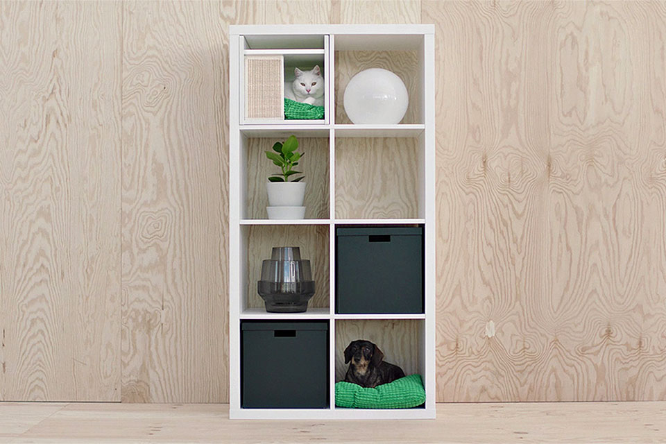 ikea introduces lurvig a collection of furniture and accessories for pets mikeshouts. Black Bedroom Furniture Sets. Home Design Ideas
