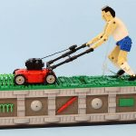 I Think I Can Spend All-Day Watching This LEGO Person Mowing The Lawn