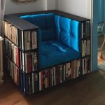 Bookcase Chair Is A Clever Furniture For Space-starve Living Space