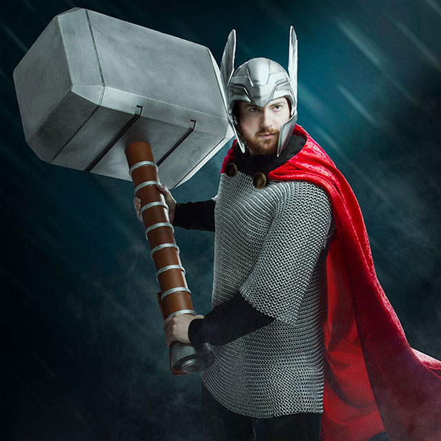 Marvel Thor's Hammer 4' Oversized Foam Prop
