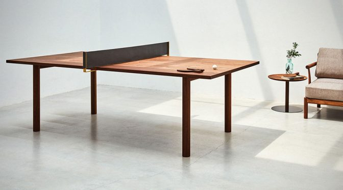 Mikiya Kobayashi's Brass-infused Ping Pong Table Is Classy As F@*k