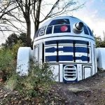 Cold War Era Nuclear Shelter Vent Turned Into R2-D2 By Mysterious Artist