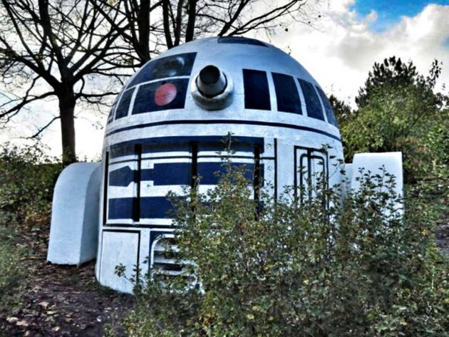 Nuclear Shelter Vent Turned Into R2-D2