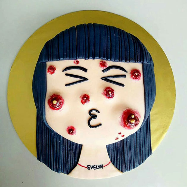 Pimple Pooper Cake by The Cakescape