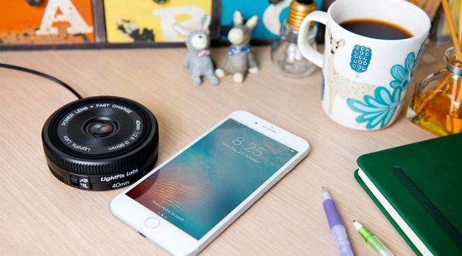 This Short-barrelled 'Lens' Is Actually A Qi Standard Wireless Charger. Quirky!