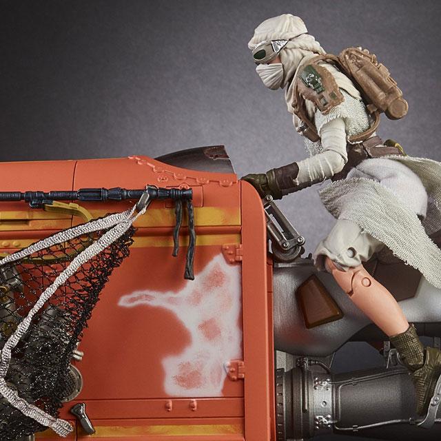 Star Wars The Black Series Rey's Speeder (Jakku) and Figure