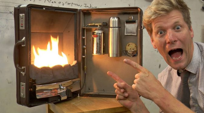 Fireplace-In-A-Briefcase Is Portable And It Is As Brilliant As It Is Insane