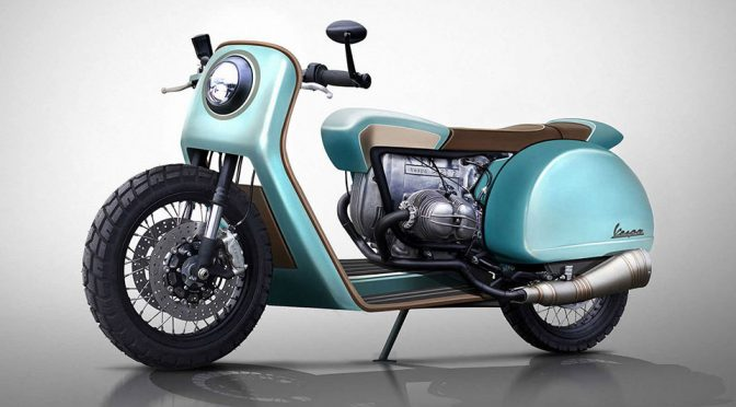 Vespa Redesigned as 6 Types of Motorcycles