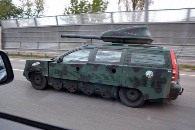 Volvo V70 Transformed Into A Street-going Tank