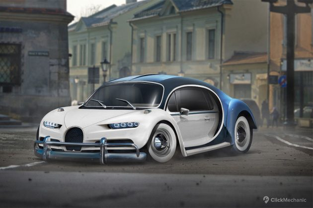 Bugatti Chiron x VW Beetle