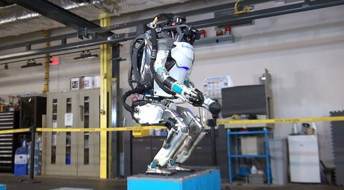 Boston Dynamics Updated ATLAS Does A Backflip