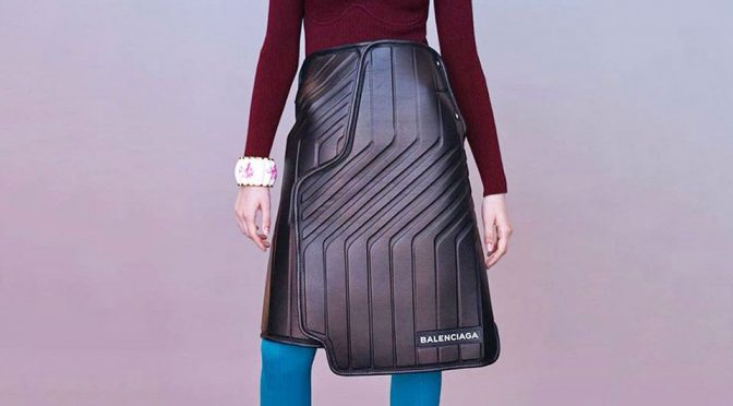 Balenciaga Did It Again. This Time, It has A Car Mat Skirt. Yes. <em>That</em> Car Mat.