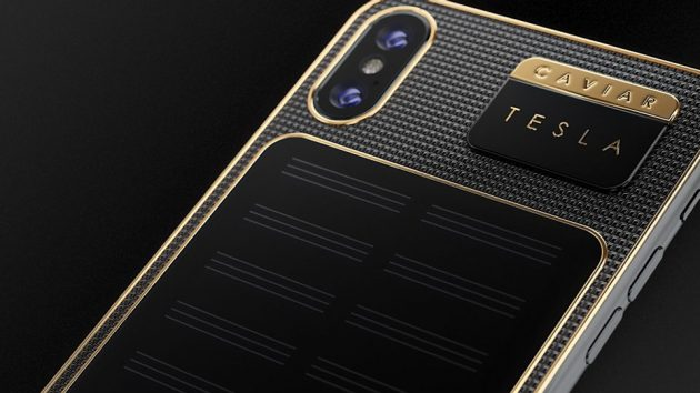 Caviar Solar-charging iPhone X Tesla Smartphone