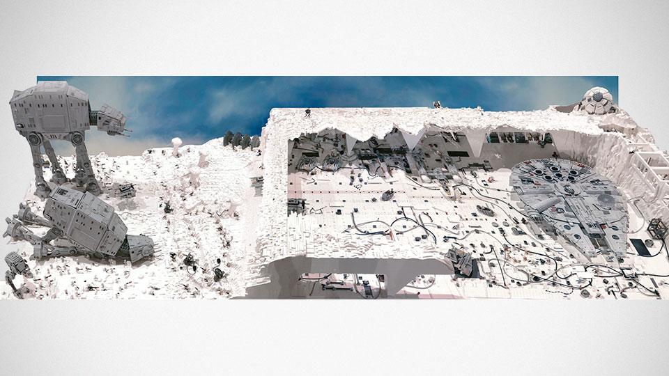 "Custom LEGO ""Winter of Hoth"" Diorama"