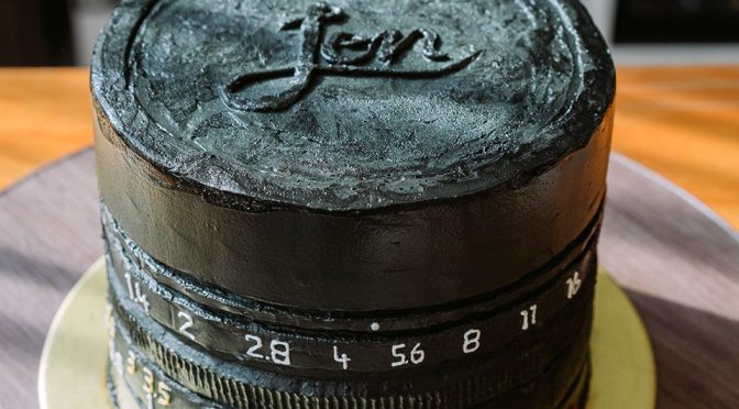 Custom Leica Summilux 50mm f/1.4 Lens Cake by Pipette by Karen