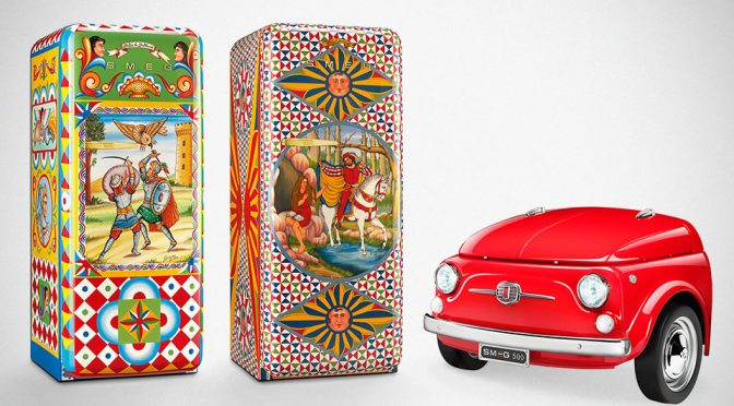 D&G x SMEG FAB28 Fridge and FIAT 500 x SMEG Fridge
