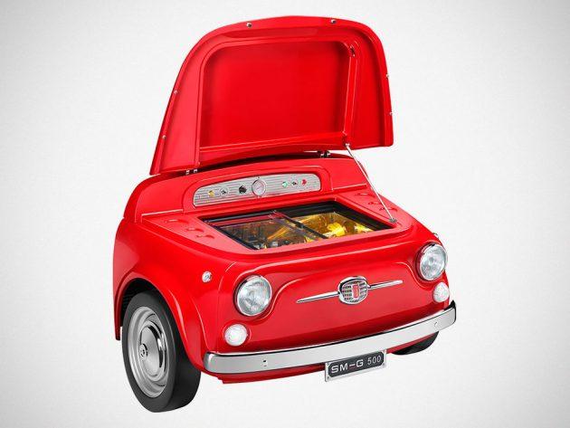 FIAT 500 x SMEG Fridge