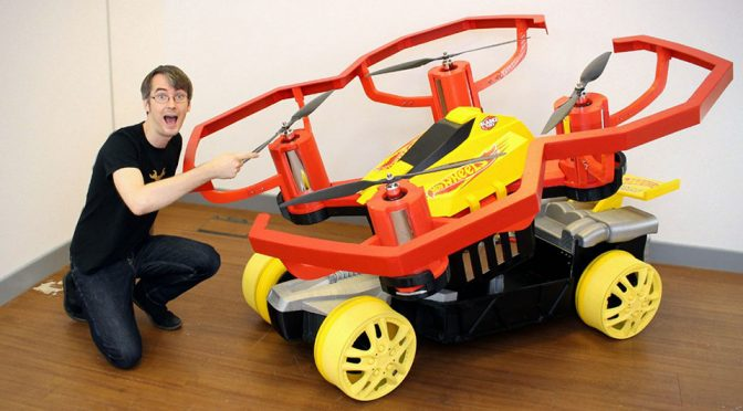 Hot Wheels Drone Racerz Car Just Got Upsized by 25 Times By A Brit Inventor