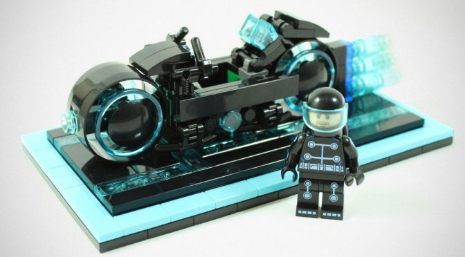 LEGO TRON Legacy Light Cycle Set by BrickBros UK
