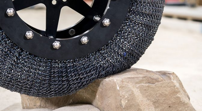 NASA New Rover Tire Is Airless, Returns To Original Shape After Deformation