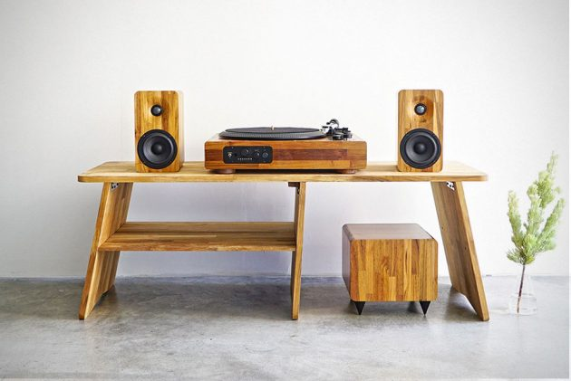 TT8 Multi-function Wooden Turntable by Minfort